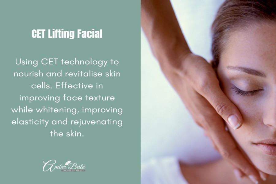 CET Lifting Facial by Amber Beila on Daily Vanity Salon Finder