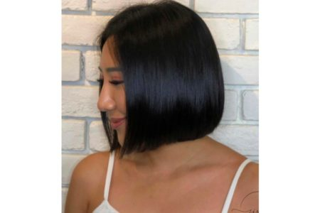 Straighten + Anti frizz + Hair treatment - Short Hair