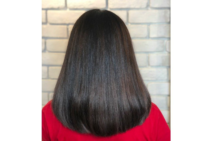 Straightening - Medium Hair by Jin Hair on Daily Vanity Salon Finder