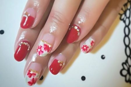 Japanese-style Gel Nail Colour Gradation (Manicure)